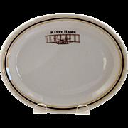 1940 Rare Kitty Hawk Restaurant Oval Dish