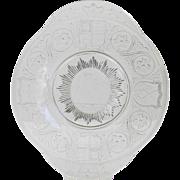 1880's Queen Victoria Golden Jubilee Nova Scotia Pattern Glass Co. Commemorative Glass Plate