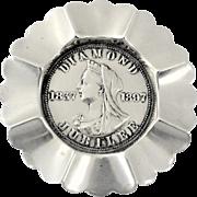 Queen Victoria Diamond Jubilee Commemorative White Metal Dish