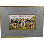 Capodimonte Porcelain 3D Battle Picture in Original Frame