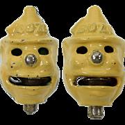 2 Kilgore Bozo Cast Iron Cap Bombs