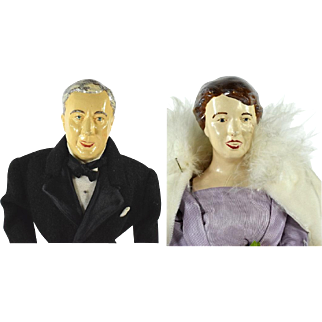 Krug Franklin and Eleanor Roosevelt Cloth Dolls