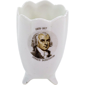 Fine China Toothpick Holder with James Madison Transfer