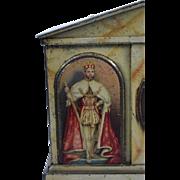 King George V Coronation Commemorative Tin Mantel Clock