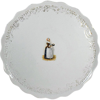 Porcelain Scalloped Edge Large Round Tray The Chocolate Girl