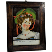 19th Century Reverse Glass Painting