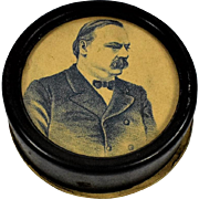 Rare Tin Box w/Grover Cleveland Photo on Top Containing Vellum Negatives