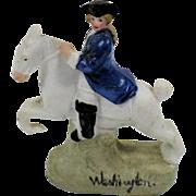 George Washington on Horseback, Hand Painted Bisque China Figurine