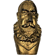 Columbian Exposition Christopher Columbus Brass on Pot Metal Cane Head