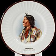Harker Pottery Semi Porcelain Native American Souvenir Plate