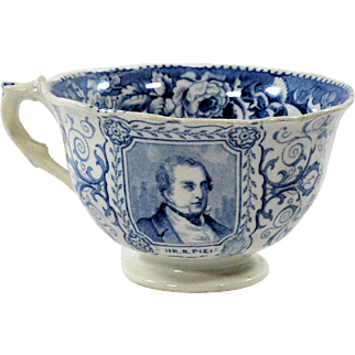 Sir Robert Peel Blue and White Cup
