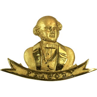 George Peabody Brass Emblem