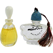 Vintage Pair of Miniature Perfume Bottles