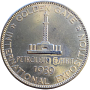 "1939 San Francisco Exposition Petroleum Exhibit ""Dollar"""