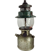 1930s Coleman Lantern Model 242B, Camping Light, Vintage Rare Coleman Lantern with 1950s Pyrex Glass Globe