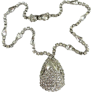 Kramer of New York Vintage Diamante Necklace