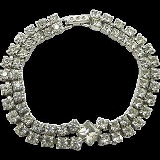 Kramer Double Row Clear Rhinestone Tennis Bracelet