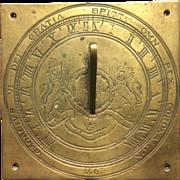 Rare 1937 coronation sundial
