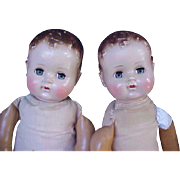 """23"""" R & B Pair of Angel Family Magic/Angel Skin Dolls from the 1950's"""