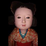 "Early Pre-war 18"" ICHIMATSU NINGYÔ Japanese play doll with Motschmann Body"