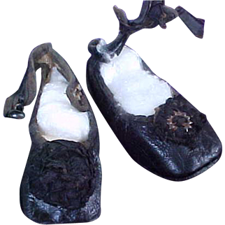 Vintage Antique Leather Shoes for your Doll