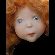 """Zwergnase Doll Artist Doll Lisiane Redhead 14.5"""" Girl with Box"""