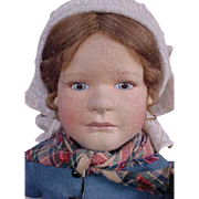 R John Wright Doll Artist Molded Felt Gretel Brinker Doll LE 350