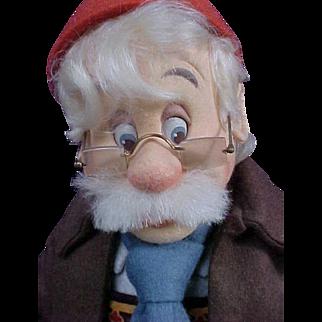 R John Wright Doll Artist Molded Felt Walt Disney Geppetto Searches for Pinocchio Doll