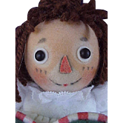 "R John Wright Doll Artist Felt 7 1/2"" Raggedy Ann Doll The Magical Hour with Box & Certificate"