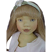 """Maggie Made Maggie Iacono 16.5"""" Ruthie Girl Pressed Wool Felt Jointed Doll Artist LE 75 pieces from 2006"""