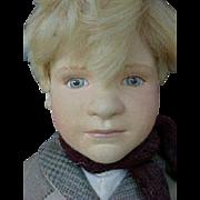 "R John Wright Doll Artist Molded Felt 20"" Hans Brinker Doll"
