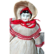 "Sweet 12"" German China Doll with Lovely Outfit"