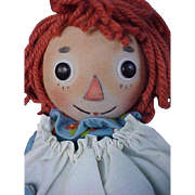 """R John Wright Doll Artist Wool Felt 17"""" Raggedy Ann with Box and Certificate from 2004 LE #197"""