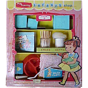 Vintage My Merry Infants Shop 1950's Doll Accessories w Box