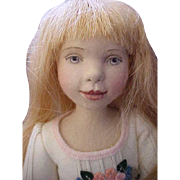"""Maggie Made Maggie Iacono 16.5"""" Charlotte Girl Doll Pressed Wool Felt Jointed Doll Artist LE 60 pieces from 2008"""