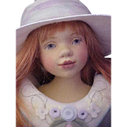 """Maggie Made Maggie Iacono 16.5"""" Ivy Girl Doll Pressed Wool Felt Jointed Doll Artist LE 80 pieces from 2006"""
