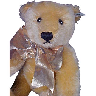 """Adorable 12"""" Mohiar Steiff Jointed Teddy Bear from West Germany LE 1500 Disneyland Musical Plays When You Wish Upon a Star"""