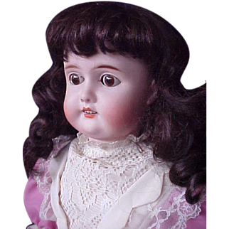 """Lovely in Lilac  -  23"""" CM Bergman BBI Germany Antique German Bisque Doll from Germany"""