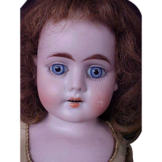 """Blue Eyed Beauty! 17"""" Heubach Koppelsdorf Antique German Bisque Doll from Germany"""