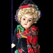 "Adorable 9"" Simon & Halbig K*R Scottish German Bisque Doll All Original"