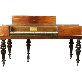 Antique Mahogany Piano Forte by John Geib & Sons Attributed to Duncan Phyfe