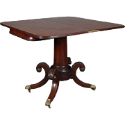 Mahogany Federal Duncan Phyfe School Game Table with Bronze Mounts, circa 1820
