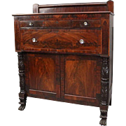 Antique Carved Flame Mahogany Jackson Press Sideboard or Linen Press, circa 1850