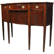 Rare Antique Diminutive Satinwood Inlaid Mahogany Hepplewhite Sideboard
