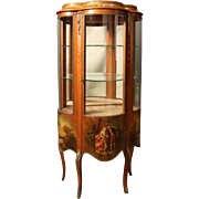 Antique French Louis XIV Style Vernis Martin Gilt Vitrine, circa 1880
