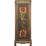 Polychrome Hand-Painted Continental Credenza, circa 1910