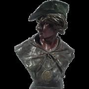 Antique Victorian E. Picault for Tiffany Esrholier Bronze Sculpture, circa 1890