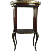 Antique French Louis XIV Style Mahogany and Ormolu Sculpture Stand, circa 1900