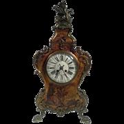 Antique Louis XIV Vernis Martin Mantel Clock, circa 1880