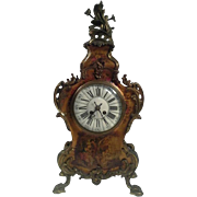 Antique Louis XIV Vernis Martin Mantel Clock, circa 1880